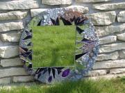 artisanat dart autres miroir rond mosaique abstrait : Epines (VENDU)