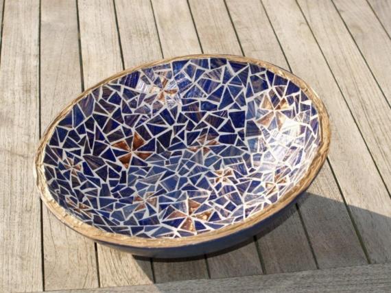 CRAFTS coupe mosaïque étoile bleu nuit  - Coupe aux Etoiles