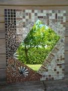 artisanat dart abstrait miroir arabesque bronze : miroir arabesque (VENDU)