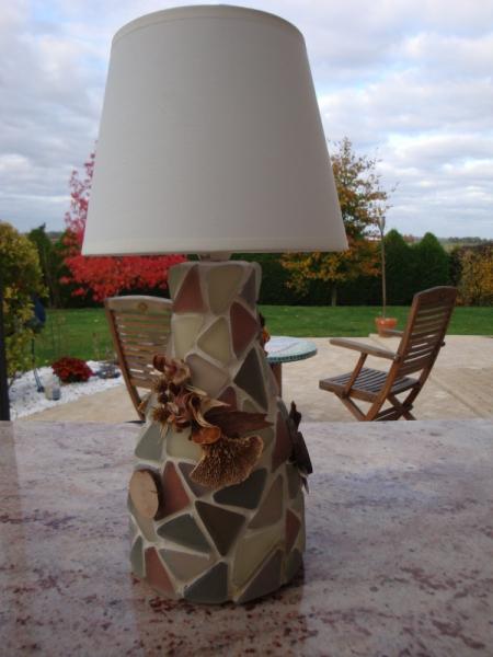 ARTISANAT D'ART  - Lampe nature morte (VENDU)