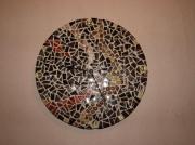artisanat dart autres horloge mosaique marron ronde : Horloge camaïeu marron (VENDU)