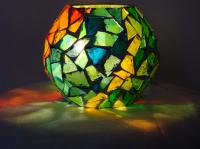 boule vitrail multicolore (VENDU)