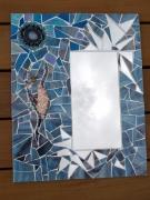 artisanat dart personnages mosaique miroir danseuse : miroir danseuse 2 (VENDU)