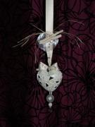 artisanat dart autres coeur creme mosaique : Coeur de Lune (VENDU)