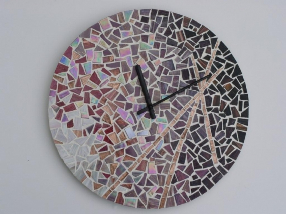 ARTISANAT D'ART  - Horloge (VENDU)