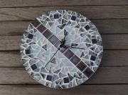 artisanat dart autres horloge rond noir et blanc moderne : Horloge Noir et Blanc (VENDU)