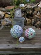 artisanat dart autres mosaique jardin terrasse bleuvert : Trio de boules (VENDU)