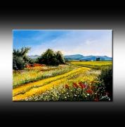 tableau paysages paysage chemin campagne bruni : Chemin de campagne
