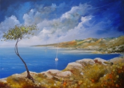 tableau paysages peinture mer tableau mer peinture paysage tableau paysage : Bord de mer