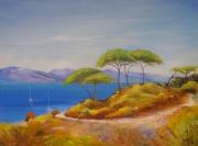 tableau paysages peinture mer tableau mer tableau paysage bord de mer : Bord de mer III