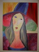 tableau personnages femme triste : femme triste