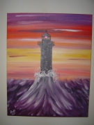 tableau marine mer phare : phare