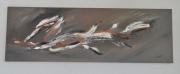 tableau abstrait abstrait marron peinture : Brasier