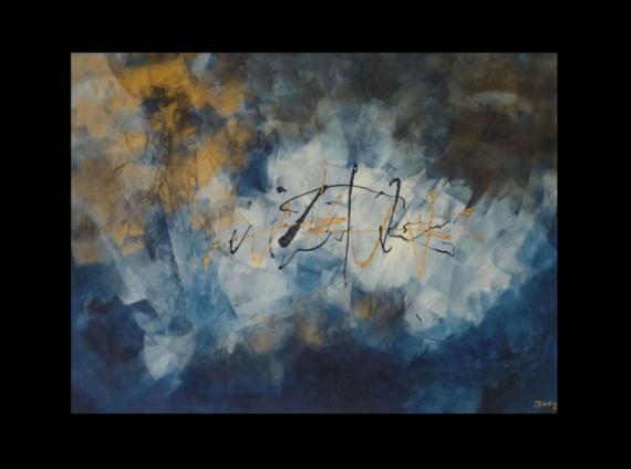 TABLEAU PEINTURE abstrait or peinture jacq Abstrait Acrylique  - Jodhpur