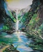 tableau paysages cascade tropicale : Cascade tropicale