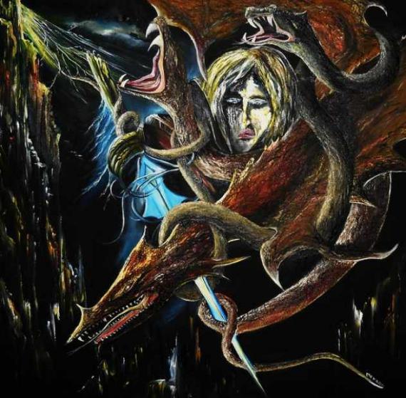 TABLEAU PEINTURE fantastique Peinture a l'huile  - Mutant