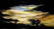 tableau paysages soleil coucher de soleil ciel : soleil couchant