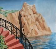 tableau : Les falaises de porphyre