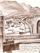 dessin : Vue depuis la Bastille