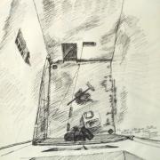 dessin : Ma cour intérieure