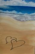 tableau : La plage aux amoureux