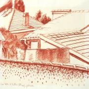 dessin : Vue sur les toits