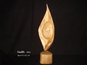 sculpture abstrait sculpture creation unique semifiguratif abstrait : Seuille