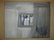 tableau abstrait gris noir blanc abstrait deco : Art deco design