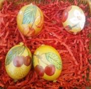 autres fruits oeuf de poule peint deco table fete de la cerise ce cerises peints : oeufs de poule peints à la main
