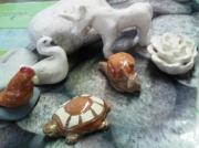 sculpture animaux sculptures miniature sculpture en argile cadeau anniversaire deco en argile : sculptures d' animaux miniatures