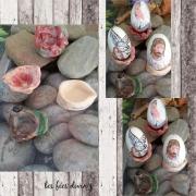 ceramique verre abstrait socle art socle en argile cadeau cremaillere deco en argile : socles pour oeuf d'oie