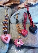 bijoux abstrait bijoux sacs argile fete des meres portes cles : bijoux sacs argile