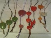 bijoux autres bijoux emailles bijou en argile coeur en argile cadeau anniversaire : pendentif coeur argile