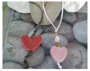 bijoux abstrait pendentif en argile coeur en argile pendentif fete des ,m pendentif saint vale : pendentif coeur en argile