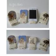 artisanat dart animaux repose portable argile emaillee deco en argile cadeau saint valenti : repose portable en argile