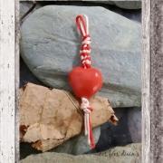 bijoux abstrait bijou sac ,a main coeur en argile bijou en argile cadeau fete des mere : bijou coeur sac à main