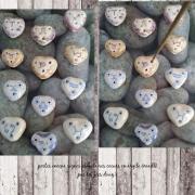 ceramique verre abstrait portes encens coeur en argile dessin zodiaque cadeau anniversaire : portes encens coeurs zodiaques