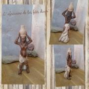 sculpture personnages sculpture femme afri sculpture d art sculpture en argile cadeau cremaillere : sculpture argile africaine