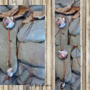 bijoux abstrait pendentif en argile coeur en argile coeur arc en ciel cadeau fete des mere : pendentif en argile aux couleurs de l'arc en ciel