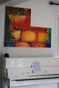 tableau architecture mur pierre couleur abstrait : mur du son