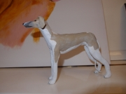 sculpture animaux whippet levrier chien compagnon : Dune