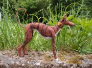 artisanat dart animaux chien levrier ami mince : Galiléa