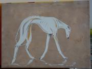tableau animaux galgo levrier chien sauvetage : Klaus