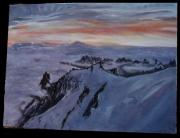 tableau paysages mont blanc aiguille du midi neige montagne : Mont Blanc