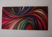 tableau abstrait courbes volutes cooleur lignes : vocales