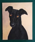 tableau animaux galgo levrier chien ami : Moreno