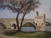 """tableau paysages : Sur le pont d'Avignon"""""""