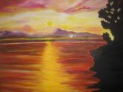 tableau paysages : Coucher de soleil