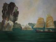 "tableau paysages baie d along ,i : ""Baie d'Along"""