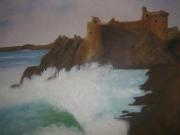 tableau marine mer chateau vague : La vague